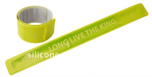 Custom Reflective Slap Bracelet with colorful printing