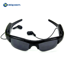 china supplier new design smart bluetooth mp3 sunglasses with video camera HD 1980*1080p Clear Eye Glasses Hiden Camera zp302