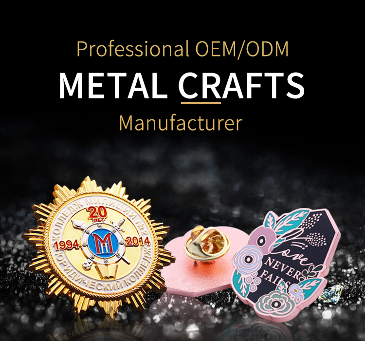 Promotional custom military metal badge bulk lapel pin