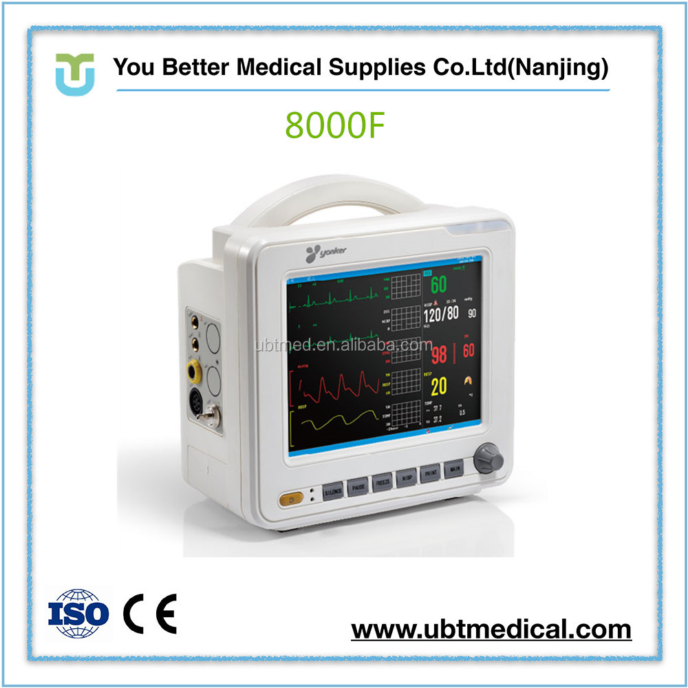 China new products veterinary medical hospital health 15 inch multiparameter patient monitor