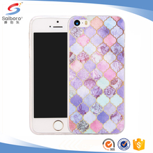 Customized Marble TPU/PC back cover cases for iphone 5 5/5s wholesale from china
