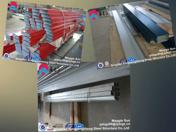 Prefab showroom construction fabrication building steel structure
