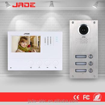 Jade Video Door Entry Phone Intercom System For Commercial Building