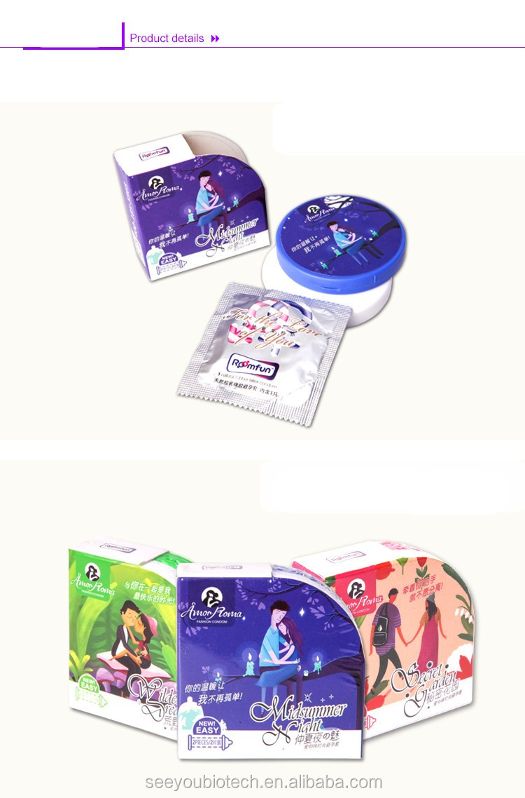 2pcs/box Fancey Packaging New Style Condoms Set Middle Size 52mm Rubber Condom