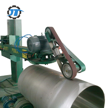 Automatic abrasive belt tank polishing machine for stainless steel mirror surface grinding