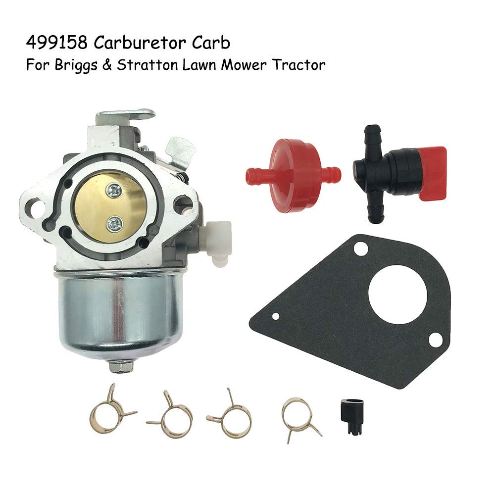 YunStal 499158 Carburetor Carb Briggs & Stratton Lawn Mower Tractor Carb Replaces # 699831 694941 499163