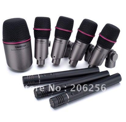 wholesale top drum takstar dms dh8p drum microphone set series kick small drum condenser mic all. Black Bedroom Furniture Sets. Home Design Ideas