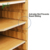 Top Storage Compartments Bamboo File  Sorter Paper Organizer With 5 Adjustable Shelves