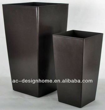 BROWN TALL SQUARE PLASTIC FLOWER POT & Brown Tall Square Plastic Flower Pot - Buy Decorative Tall Outdoor ...