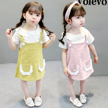 Summer Cute Little Kids Birthday Girls Formal Patterns Baby Dress