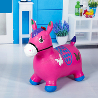 Kids Toys Children Inflatable Animal Bouncy Horse Toys Music Jumping Toy Kids PVC Gift Toys For Child