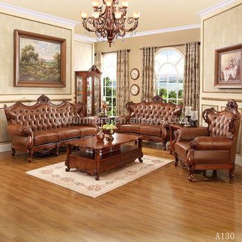 Attractive Old Style Wooden American Sofa Set A130