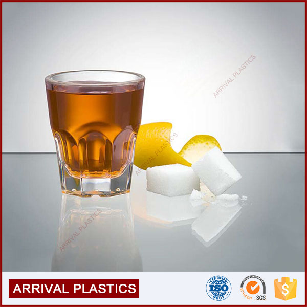 Unique Design thick heavy base acrylic cockil beer rock shot glass cup acrylic shot glass