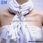 Owl pendant Necklace charm scarf with jewelry