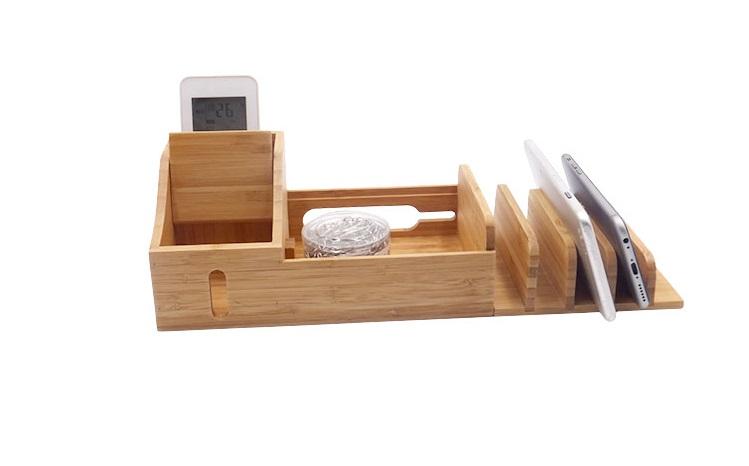 Bureau et la maison bambou bois organisateur de stockage de bureau