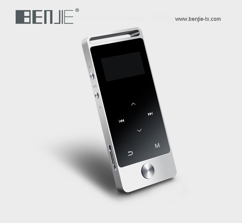 Benjie 2016 baru layar sentuh mp3 audio player quran mp3 player dengan FM radio dan e-book