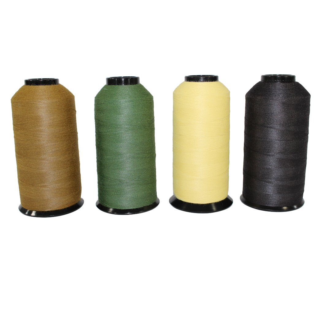 Kevlar Thread Sewing Size 30/3 - SGT KNOTS - 3 Ply Military Grade - Clothing, Leather, Canvas, Gear & Boot Stitching Repair - Crafting, DIY Projects, Commercial, Industrial (4 oz, Black)