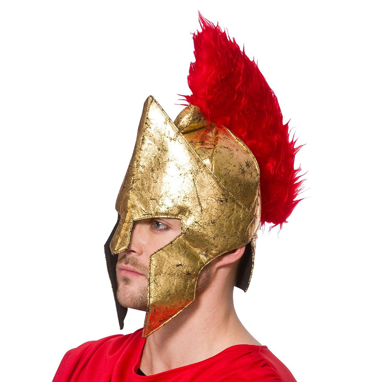 Gladiator Helmet Adult Roman Soldier Halloween Costume Fancy Dress