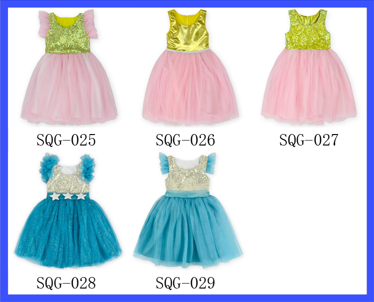c2998d21b000 Latest design blue baby lovely birthday party dresses baby tutu dress
