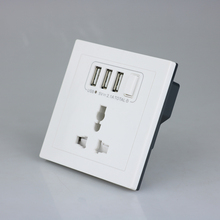 CE Rohs 3usb port universal dinding switch <span class=keywords><strong>socket</strong></span>