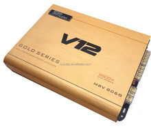 Best sale 4 channel class AB 80W car amplifier,v12 amplifier with cheap price amplifier