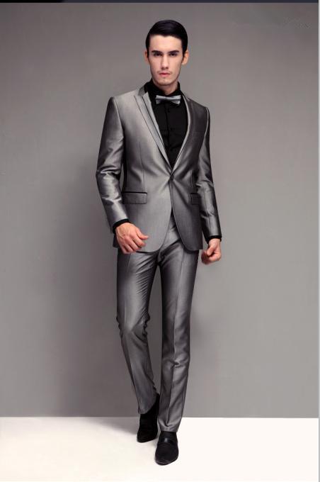Classic Grey Wedding Suit,Mtm Suit Bcs072 - Buy Mens Wedding Suit ...