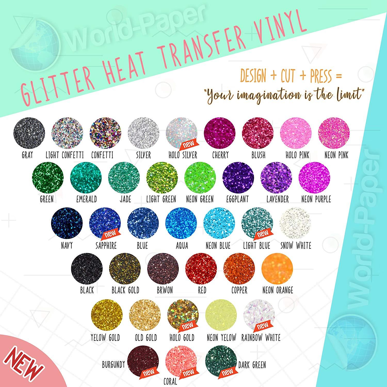 "NEW GLITTER Heat Transfer Vinyl 10"" x 3 Yards :)"