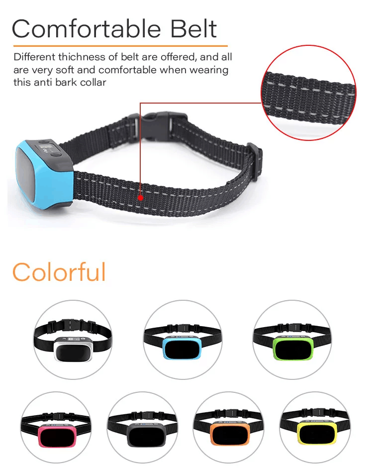 Rechargeable Anti Bark Collar Beep Vibration Shock Dog Bark Device