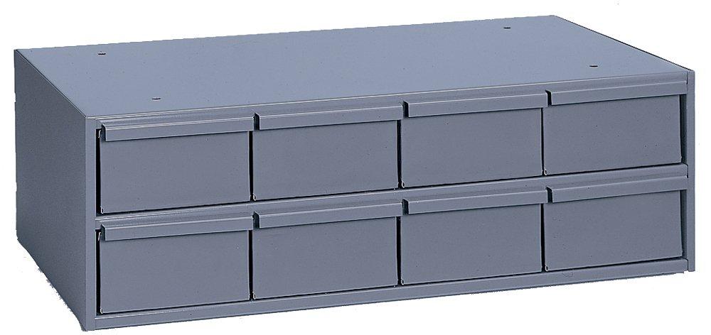 "Durham 003-95 Gray Cold Rolled Steel Storage Cabinet, 22-3/4"" Width x 7-3/8"" Height x 11-5/8"" Depth, 8 Drawer"