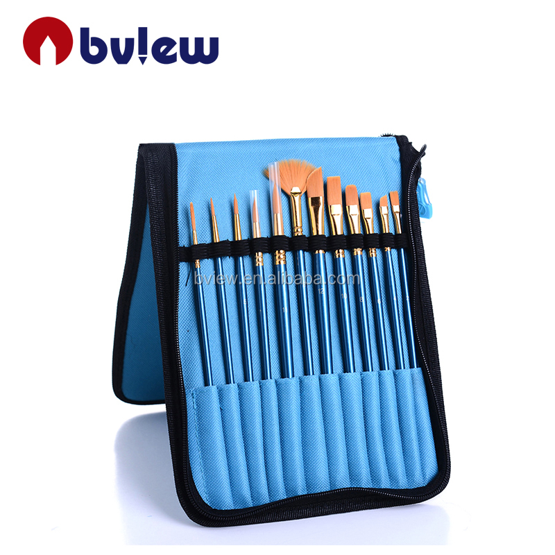 2017 New Design Convenient Carry Oil Painting Artists Brush set
