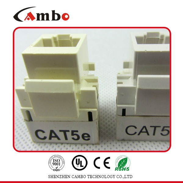 Fast Transfer Cat5e Toolless Keystone Jack 90 Degree Quick Installations RJ45 Keystone Jack