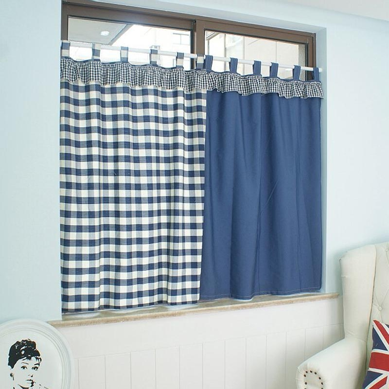 bleu plaid rideaux promotion achetez des bleu plaid rideaux promotionnels sur. Black Bedroom Furniture Sets. Home Design Ideas