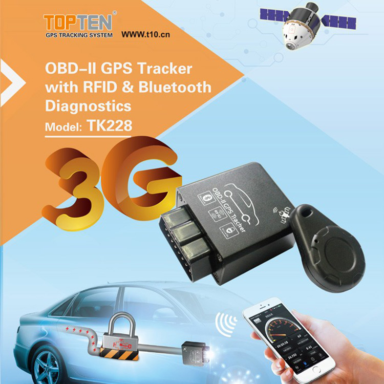 TK228 obd ii interface can-bus data reader/ car tracker vehicle tracking <strong>device</strong>