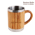 ED5014 280ML/9OZ Wholesale Inner Stainless Steel Outer Bamboo Coffee Mug For Office