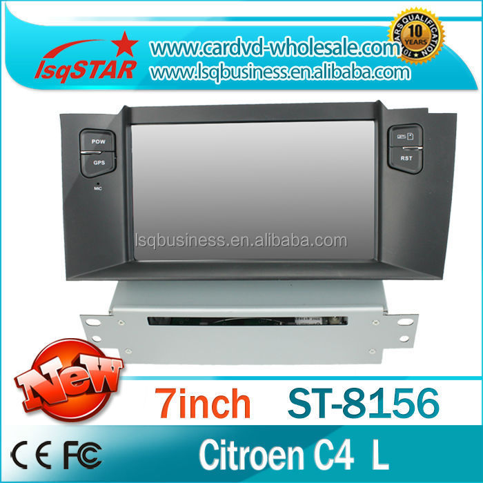 China manufacture 2 din Car stereo radio audio dvd gps mp3 3g multimedia system for Citroen C4 L