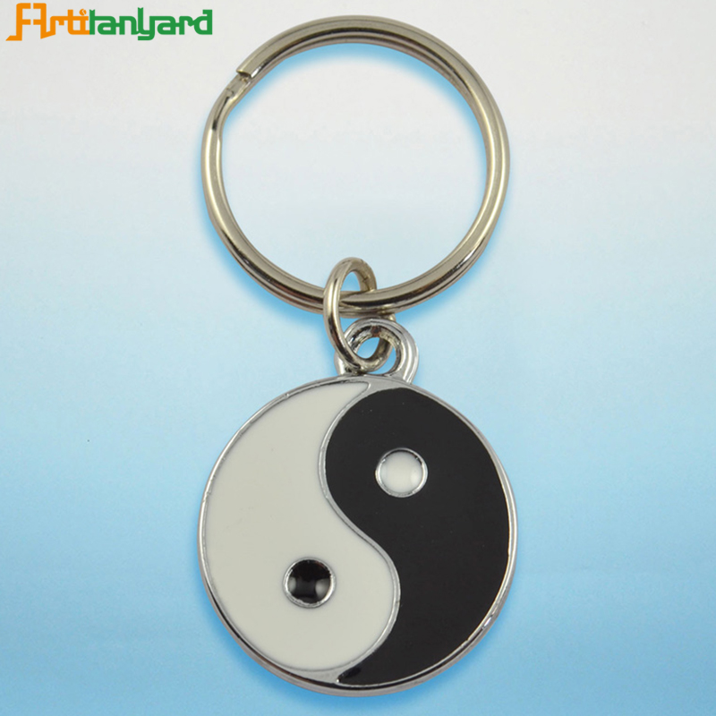 Custom Round Shape Hard Enamel Keychain Manufacturers In China