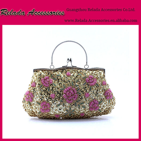 wholesale handmade embroidered beaded designer evening crystal clutch bags for ladies