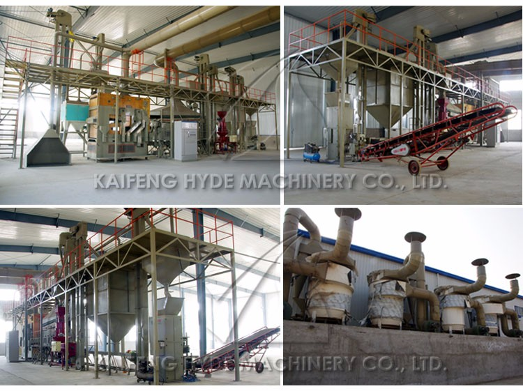 Hyde Machinery 5ZT amaranth seed processing plant