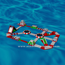 30x20m custom design kids N adults giant inflatable floating water park for outdoor sea beach or open water area