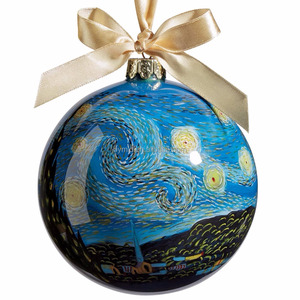 Glass Christmas Ball Ornament Hand Painted Christmas Ornaments