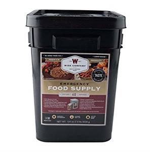 WISE FOODS - GOURMET 60 SERVING ENTREE ONLY GRAB AND GO FOOD UPGRADED KIT
