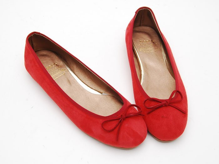 40c44ab99aae Mc164 Women s Suede Flat Shoes Red - Buy Flat Shoes