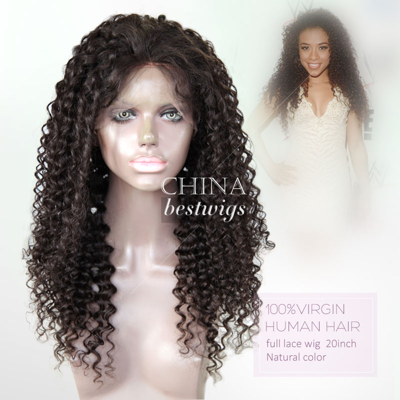 Nice Quality 14 Inch Natural Color Glueless Lace Wig Custom Wig Head