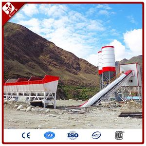 Hzs Series 120 M3 Belt Conveyor Type Dry Mix Concrete Batching Plants Hzs120