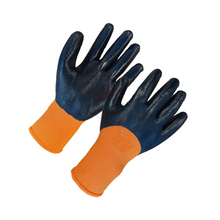 customize nylon dipped nitrile safety gloves