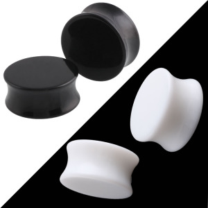 Acrylic Body Piercing Ear Plugs Saddle Ear Expander