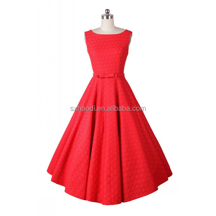 Vintage 50's Audrey Hepburn Style Swing Party Rockabilly Evening Dresss/Women casual dresses