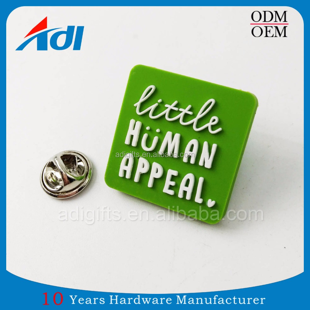 Promotion gift hot sale custom your own 3d PVC crafts lapel pin badges