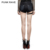 K-275 Steampunk lady skull button low waist striped hot pants