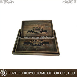 2017 OEM online shop china wholesale wooden breakfast serving tray set